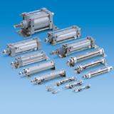 Pneumatic cylinder 3d cad models & 2d drawings.