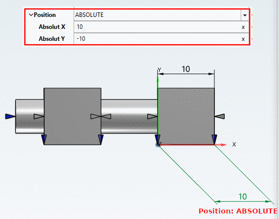 Result exemplarily in AutoCAD