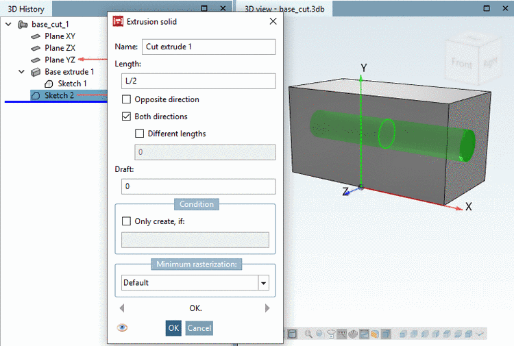 "PARTdataManager example: Value range ""from - to"" with insertion with input of discrete values or selection via slider"