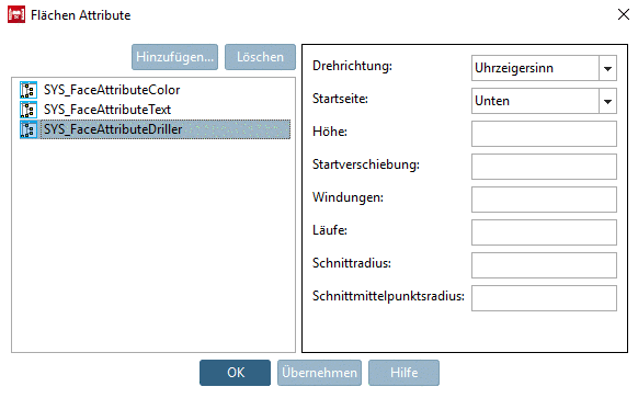 PARTdataManager example: List field selection with namings and graphics