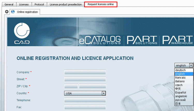 Online registration and licensing