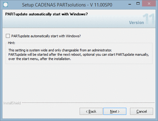PARTupdate automatically start with Windows?