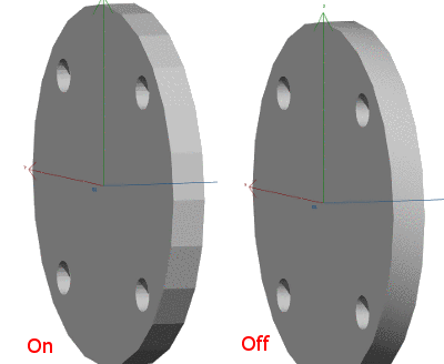 Always use simplified depiction (robust against errors in mesh): On/Off