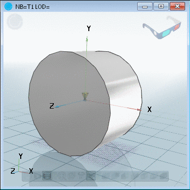 Coordinate system in the middle of the bounding box