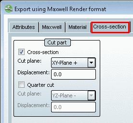 Maxwell Render - Cross-section index page