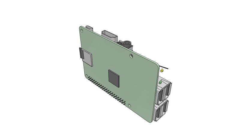 Raspberry Pi - 2D PCM Schematics - 3D Model
