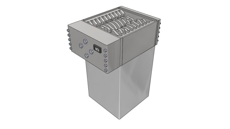 Industrial shredder - 3D CAD Models & 2D Drawings