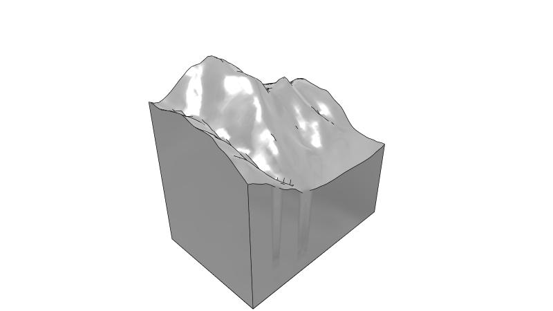 Hahnenkamm, Kitzbühel - 3D Map - 3D Panorama - GIS