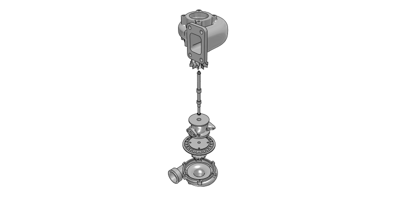 Turbocharger - 3D CAD Models & 2D Drawings