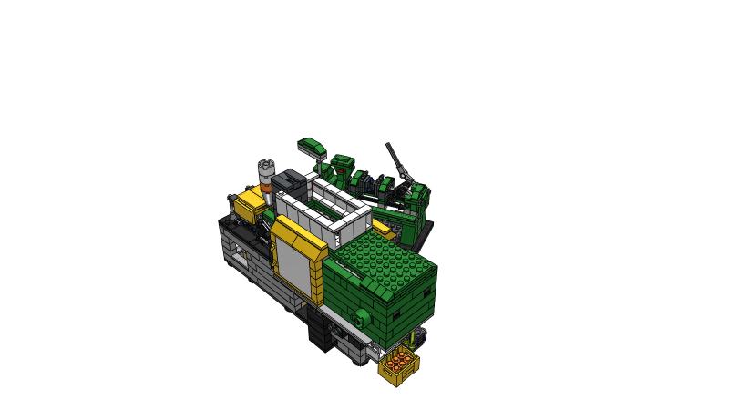 Injection molding machine - 3D Animation