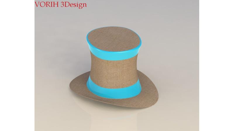 9373d5a31 Hat - 3D Fashion - 3D Wearables - 3D Shoes