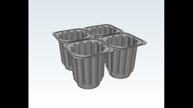 Polyethylene Terephthalate Rayher Casting Mould 35 x 10.5 x 3.3 cm