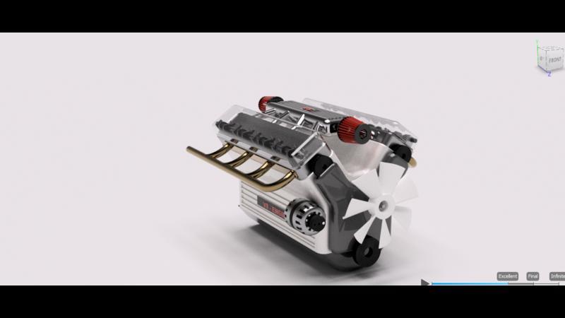 V8 engine - 3D CAD Models & 2D Drawings