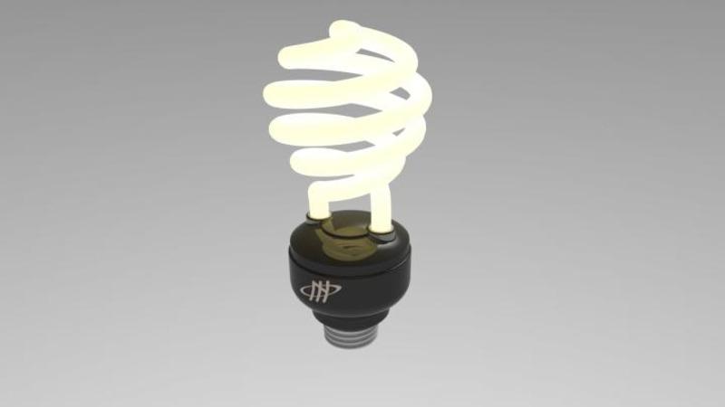 Lampada Tubolare Fluorescente : Lampada fluorescente d pcm schematics d model
