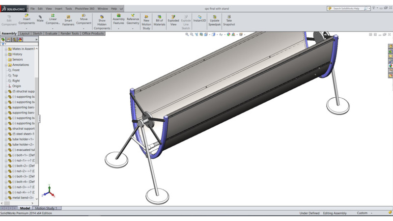 Solar thermal energy - 3D CAD Models & 2D Drawings