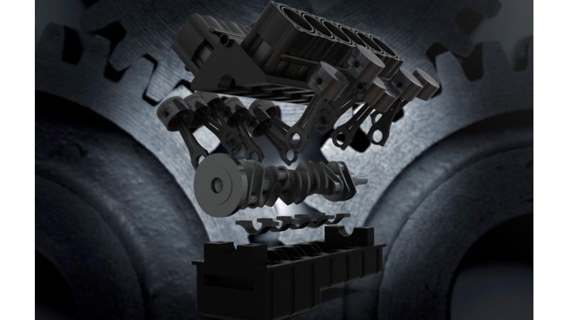 V12 Engine 3d Cad Models 2d Drawings