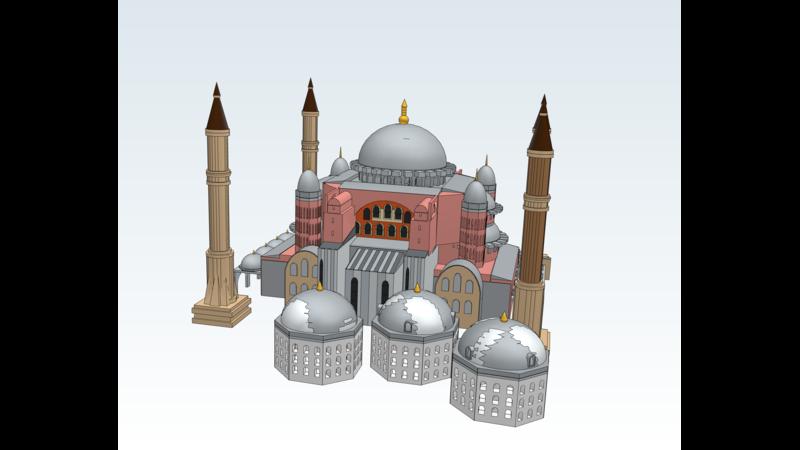 Hagia Sophia - 3D Building - 3D Monument