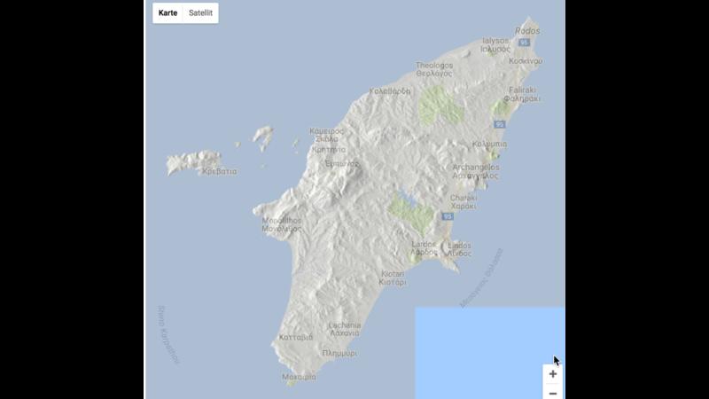Rhodos Karte Faliraki.Rhodes 3d Map 3d Panorama Gis