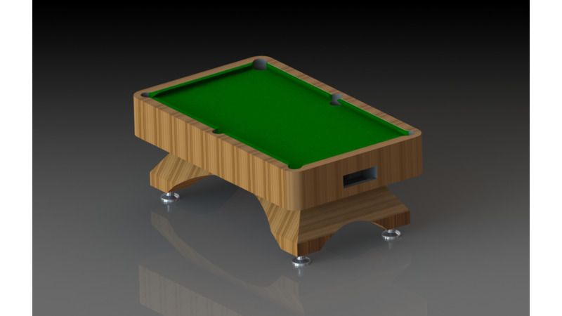 Billiard Table D Model Sport - Kickball pool table