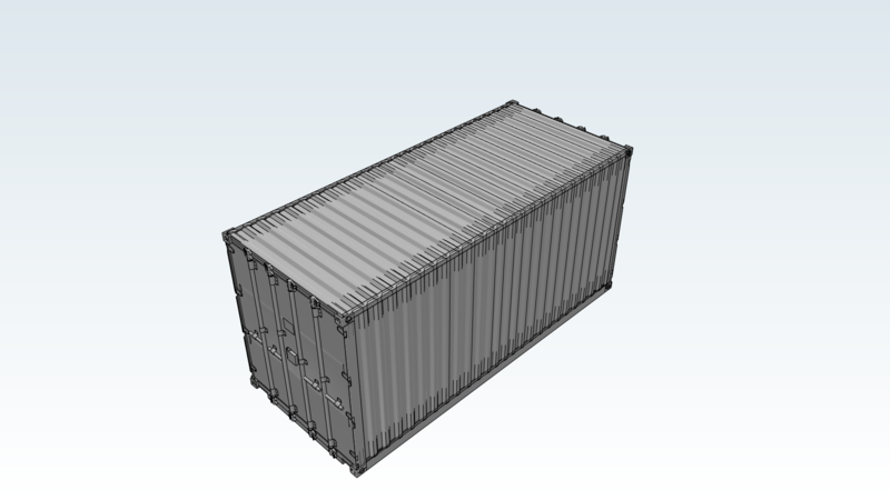 Intermodal container - 3D Vehicle - 3D Data