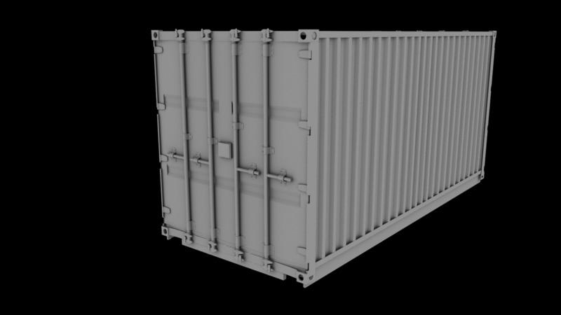 Poważnie Kontener (transport) - 3D Vehicle - 3D Data HG34