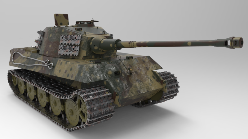 Tiger II - 3D Vehicle - 3D Data