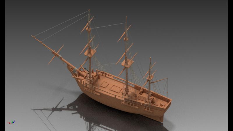 Bounty (1960 ship) - 3D Vehicle - 3D Data