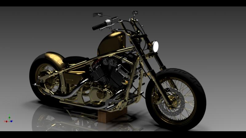 Yamaha DragStar 650 - 3D Cars - 3D Motor Bikes - 3D Trucks