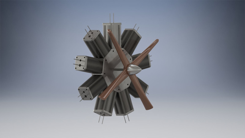Radial engine - 3D CAD Models & 2D Drawings