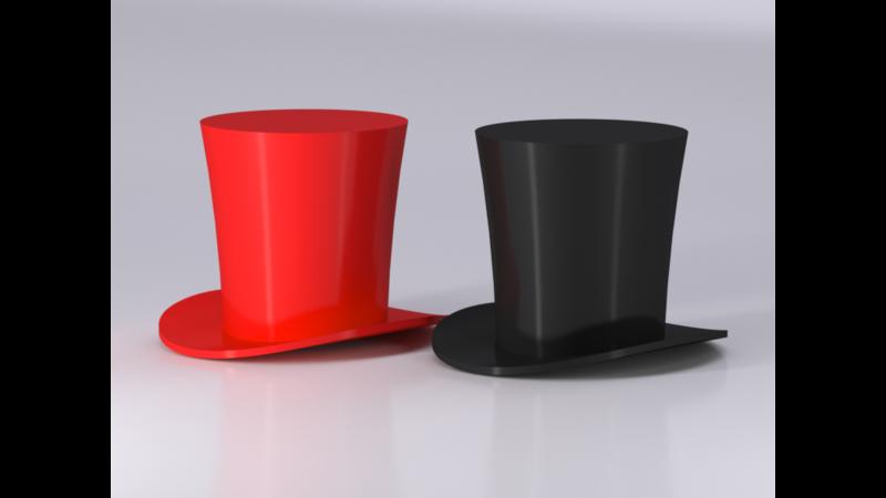 Sombrero de copa alta - 3D Libary - 3D Data 57e7107d61b