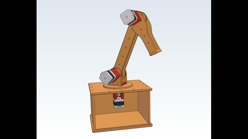 Robotic Arm with NEMA 17 stepper motors - PARTcloud