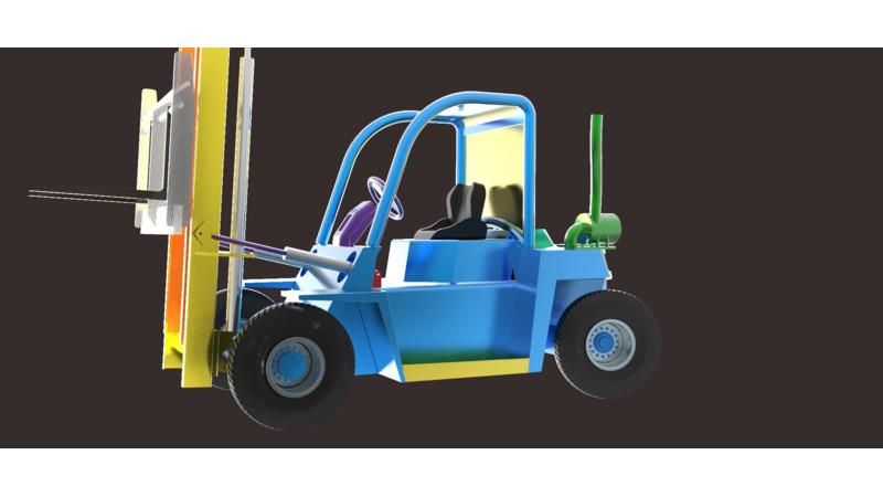 Forklift - 3D Vehicle - 3D Data on