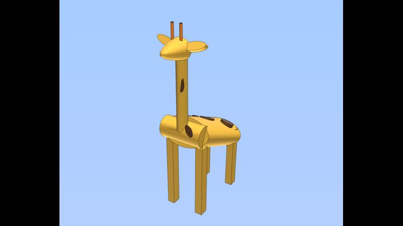 Giraffe 3d Animal