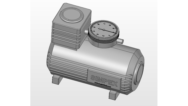 Air compressor - 3D CAD Models & 2D Drawings