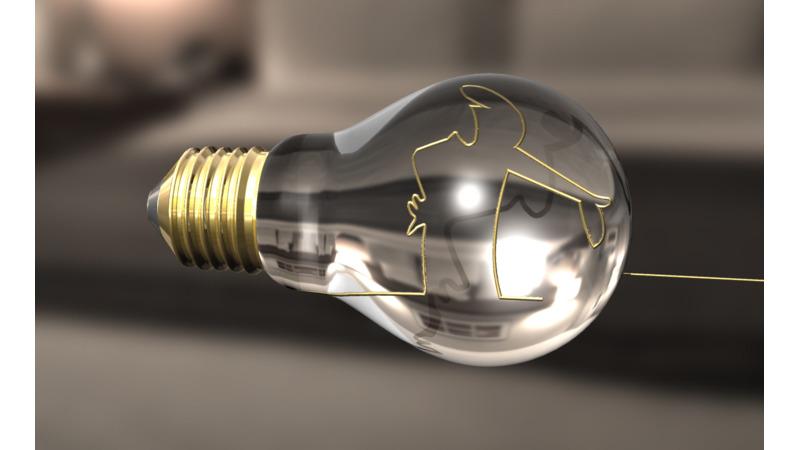 Incandescent Light Bulb 3d Mesh