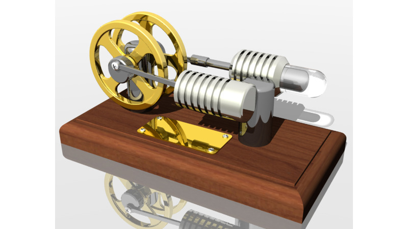 Stirling Engine 3d Cad Models 2d Drawings
