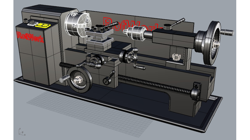 Metal lathe - 3D CAD Models & 2D Drawings