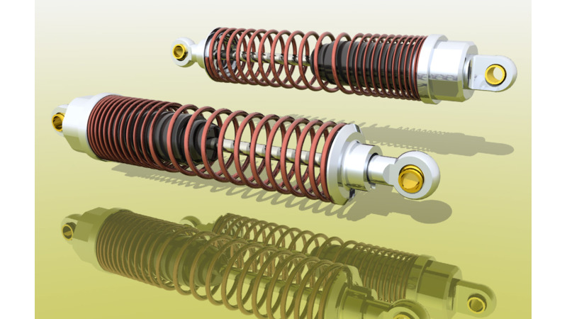 Shock absorber - 3D CAD Models & 2D Drawings