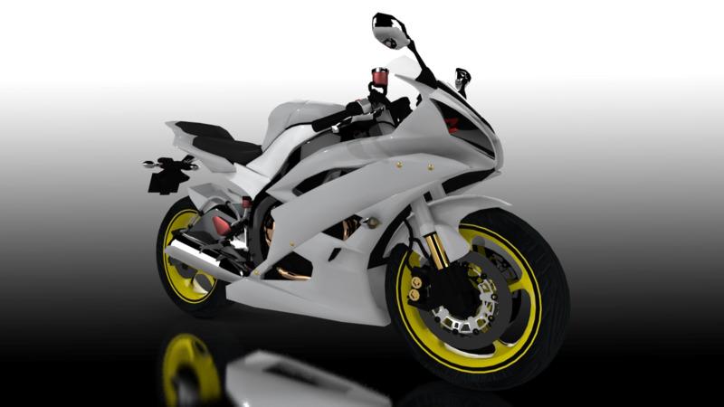 Yamaha YZF-R6 - 3D Cars - 3D Motor Bikes - 3D Trucks