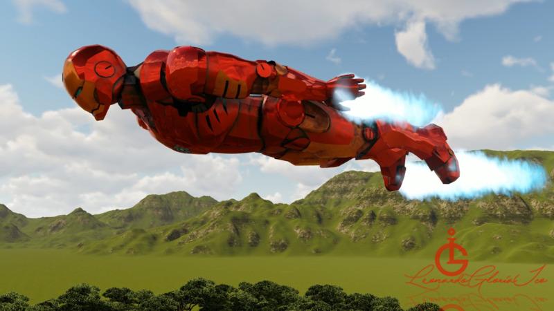 Iron Man's armor - 3D Movie