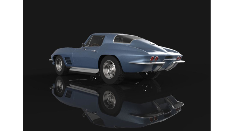 US-Made 1973-74 Corvette Parking Light Lens Assembly Left NEW TrimParts 73 74