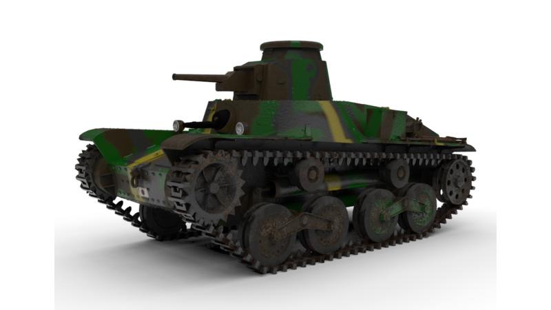 九五式軽戦車 - 3D Vehicle - 3D Data