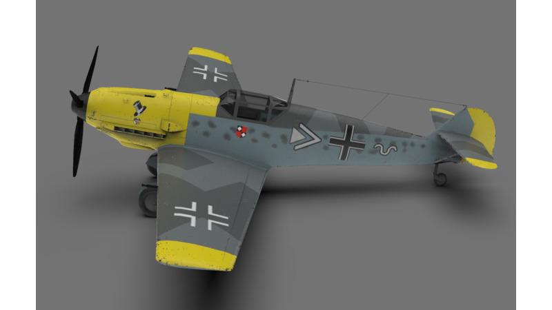 Messerschmitt Bf 109 3d Vehicle 3d Data