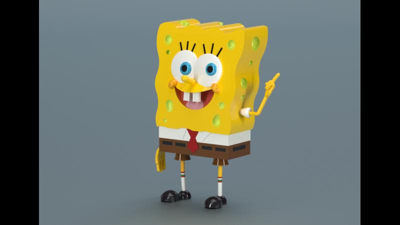 SpongeBob SquarePants - 3D Lowpoly Mesh - 3D Rendering 744949735