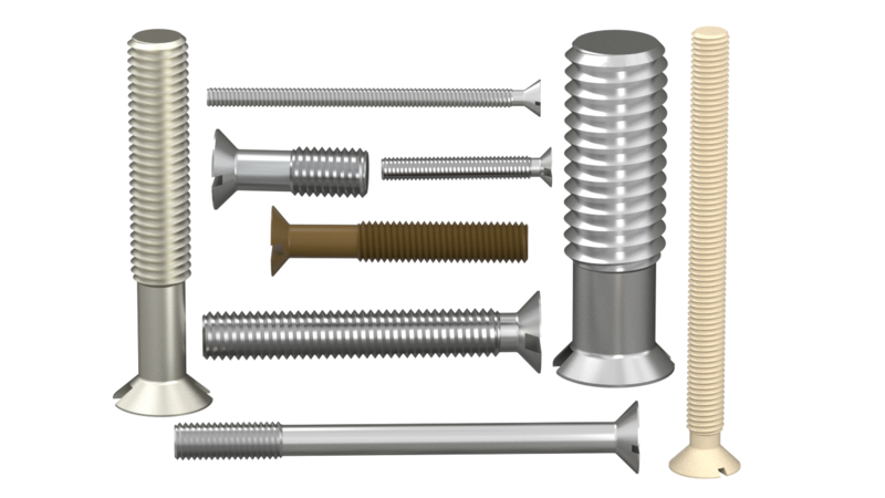 Screw - 3D CAD Models & 2D Drawings