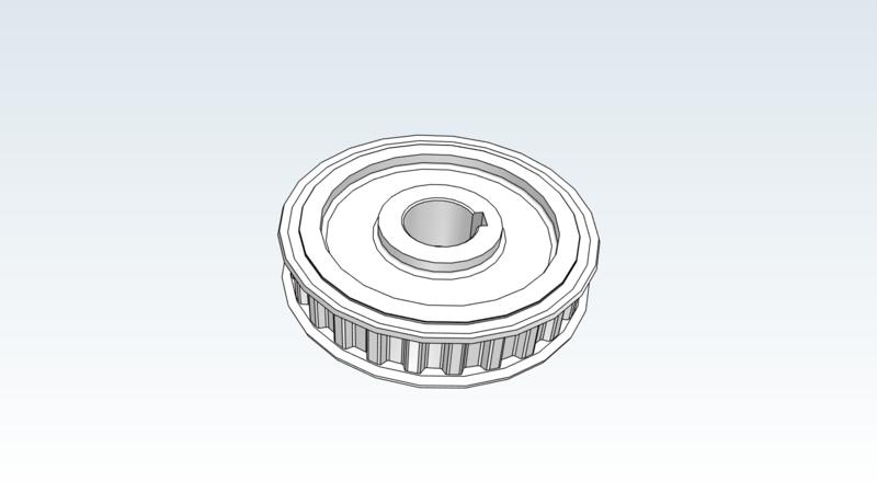 Pulley - 3D CAD Models & 2D Drawings