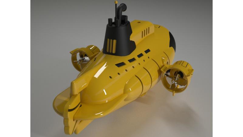 Submarine - 3D Vehicle - 3D Data