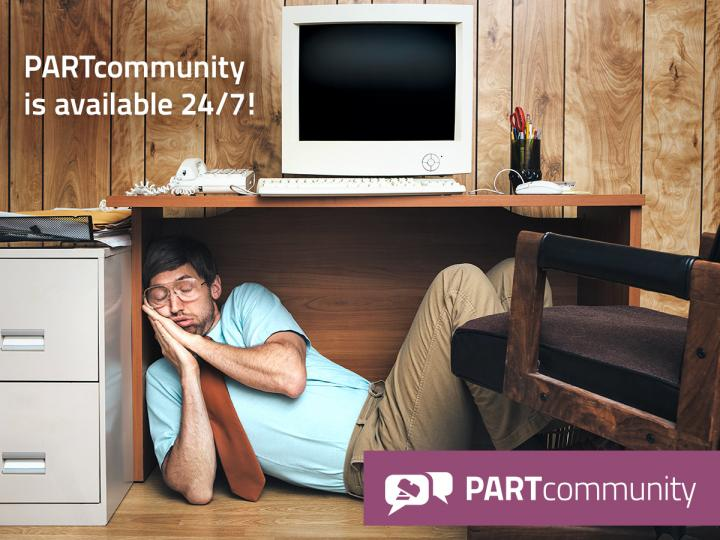 PARTcommunity is available 24/7!