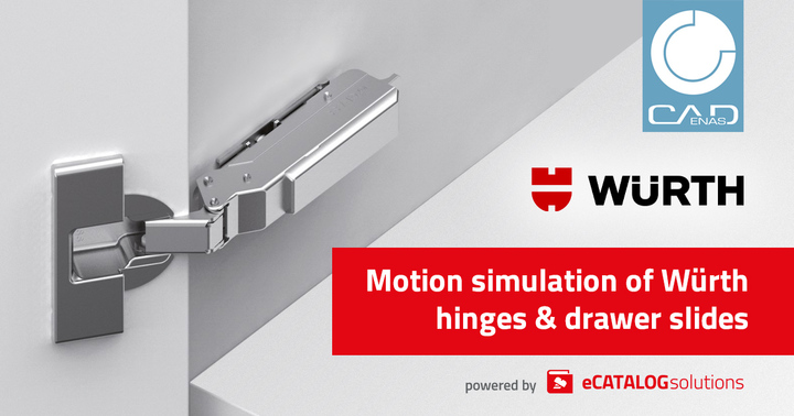 Digital Twin, 3D CAD models, Würth, furniture construction, BIM, eCATALOGsolutions, CADENAS