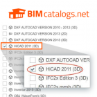 HiCAD Architecture Format available on BIMcatalogs.net